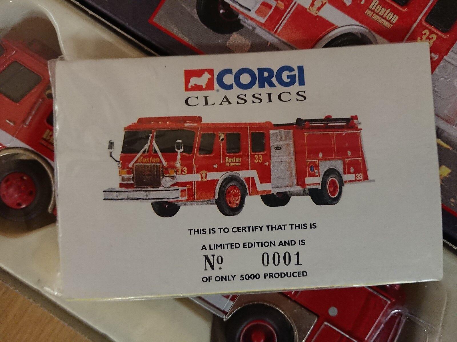 CORGI CLASSICS 54701 E-UN LATO MONTAGGIO POMPISTA POMPISTA MONTAGGIO Boston Ltd Edition N. 0001 del 5000 19a736