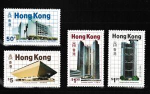 Modern-Architecture-set-of-4-mnh-stamps-1985-Hong-Kong-457-60