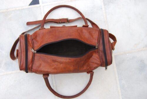 leather bag Duffle men travel genuine gym luggage overnight vintage Duffel Bag