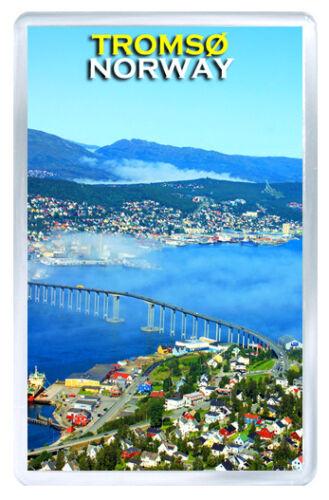 TROMSØ NORWAY MOD2 FRIDGE MAGNET SOUVENIR IMAN NEVERA