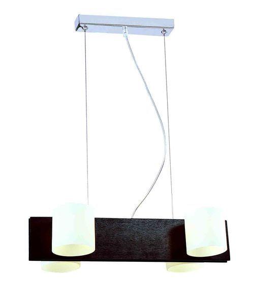 Hängelampe Hängeleuchte Lampe Leuchte TOP DESIGN QUEEN QN-H4 4 flammig Opalglas
