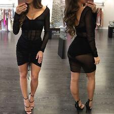Damen Mode Clubwear Enganliegend Abend Party Cocktail Shorts Minikleid