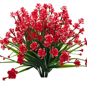Zimeng Artificial Flowers 4 Bundles Outdoor Uv Resistant Greenery Shrubs Plants Ebay