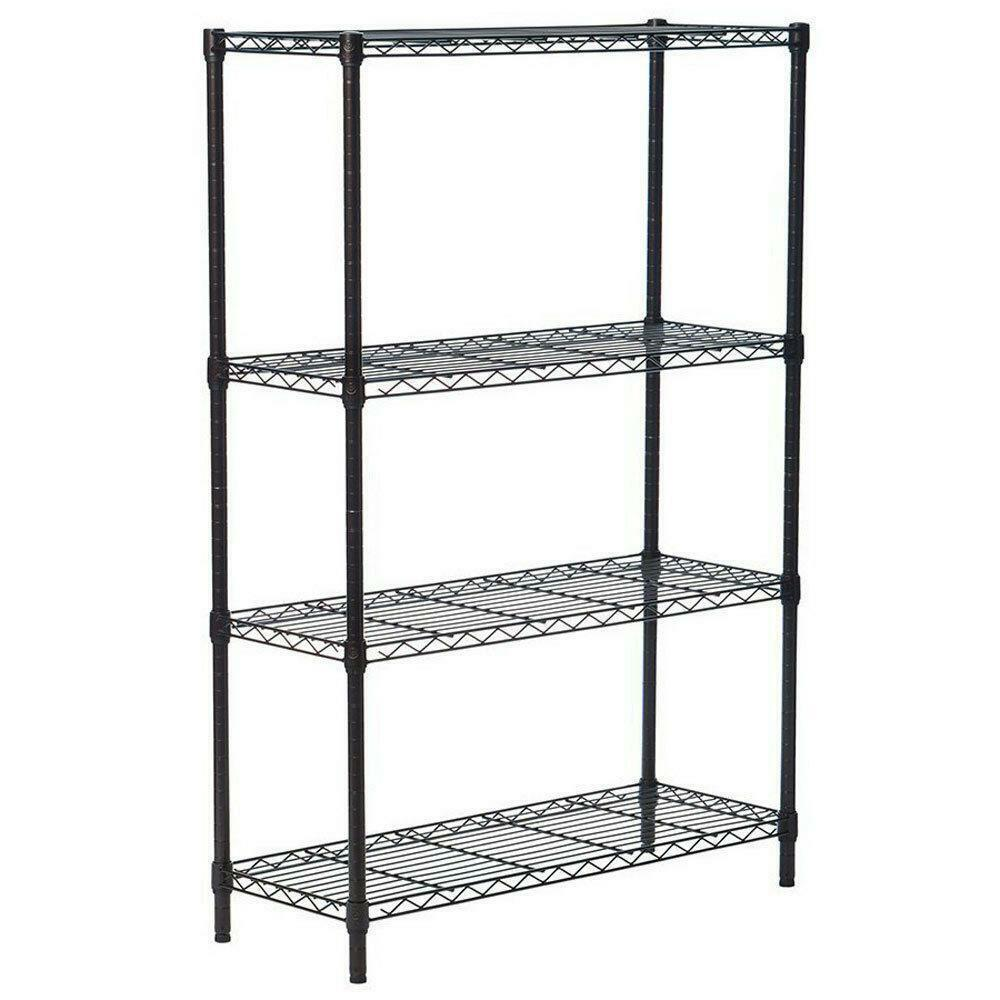Wire Shelving Unit Heavy Duty Kitchen Storage Cart NSF Certification Utility Metal Organizer Wire Rack Shelf Shelving Unit for Kitchen Bathroom Office 11.81 x 11.81 x 23.62