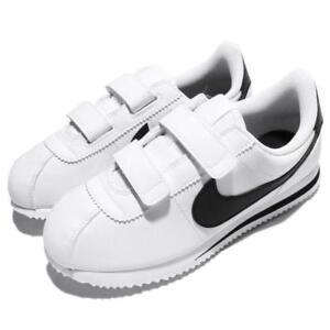 5a2319230 Nike Cortez Basic SL White Black Leather 904767-102 preschool Kids ...