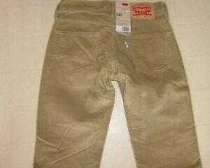 Levi S 511 Slim Fit Pantalones De Pana Marron Para Hombre Talla 28x32 Nuevo Con Etiquetas 68 Ebay