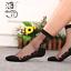 Women-Transparent-Thin-Roses-Flower-Lace-Socks-Crystal-Glass-Silk-Short-Socks miniature 17
