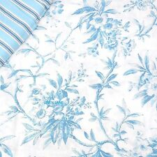 RALPH LAUREN Cottage Floral QUEEN COMFORTER SET NWT White Chic Blue TOILE Shabby