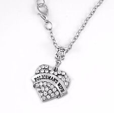 Policeman's wife necklace  police wife charm necklace  Police wife jewelry gift