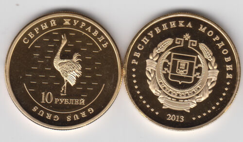unusual coinage Bird MORDOVIA 10 Rubles 2013