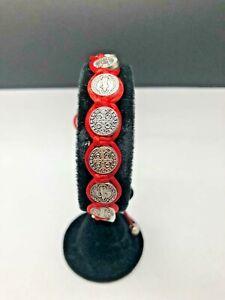 St Benedict Rosary adjustable bracelet Red cord rosary style bracelet. Religious