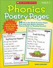 Phonics Poetry Pages : 50 Fill-in-the-Blank Practice Pages That Help Kids Master Essential Phonics Skills for Reading Success by Kama Einhorn (2011, Paperback)