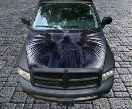 H22 GRIM REAPER Hood Wrap Wraps Decal Sticker Tint Vinyl Image Graphic