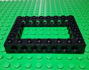 LEGO Black Technic Brick 6 x 8 Open Center Lot of 10 Parts Pieces 40345