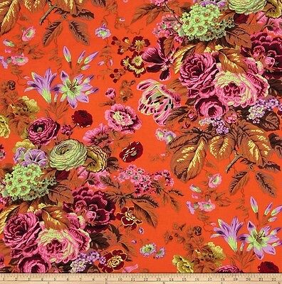 Cotton Quilting Fabrics 1//2 Yard  Kaffe Fassett Plink RED