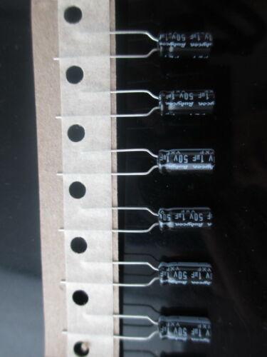 50pcs RUBYCON YXF 1mfd 50 V 1UF longue vie condensateur électrolytique 105 ℃ 5X11mm