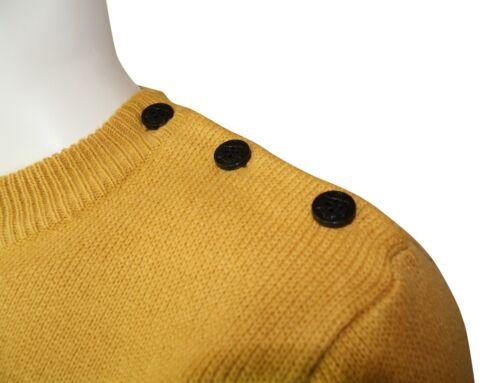 righe Relco di ancoraggio gialle Mens mostri Bottoni Mens a Navel Relco Knit ZvYgq6wdT