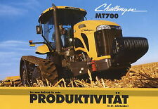 Prospekt Challenger MT 700 8 02 2002 Trecker Traktor Schlepper Raupe brochure
