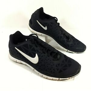 separation shoes 7341d 45a3d GUC Women's Nike Free 5.0 TR Fit 3 Black Running Shoes Sz 10 ...