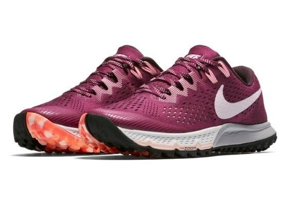 a433f090fae0 Nike Air Zoom Terra Kiger 4 Berry Berry Berry Pearl Hiking Trail Running  shoes 7 Womens