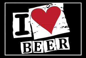I Love Beer Tin Sign Shield Arched Metal 20 X 30 CM FA0816