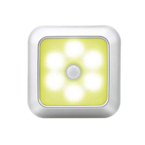 6 LED Sensor Night Light PIR Infrared Motion Sensor Lamp Battery powered
