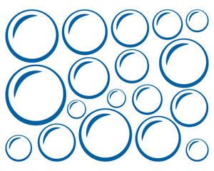 SEIFENBLASEN-AUFKLEBER-Deko-Sticker-Wasserblase-Blubberblase-Bad-Fliese-Bubbles