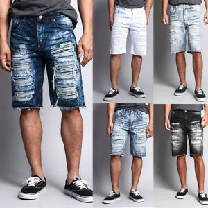 Men-039-s-Distressed-Rip-Colored-Jean-Pant-Denim-Shorts-441-V1G-431-T21D-751-V