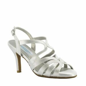 Dyeable White Satin Paisley Prom Bridal Bridesmaids Kitten Heel