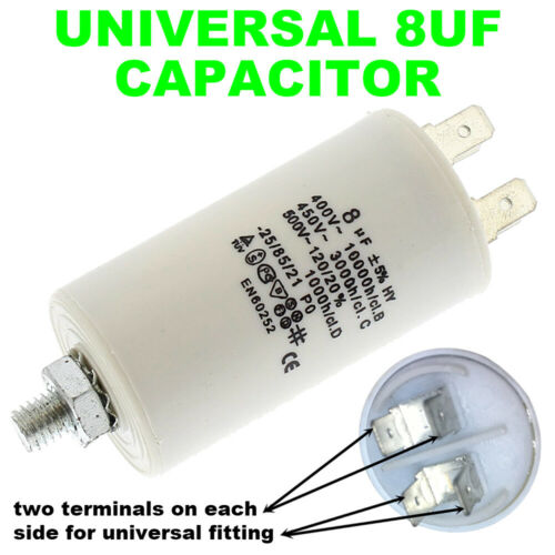 WHITE KNIGHT Tumble Dryer Start Motor Capacitor 8UF