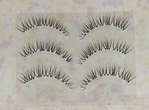 9Pairs-3D-False-Eyelash-Soft-Natural-Transparent-Stem-Black-Eye-end-elongated