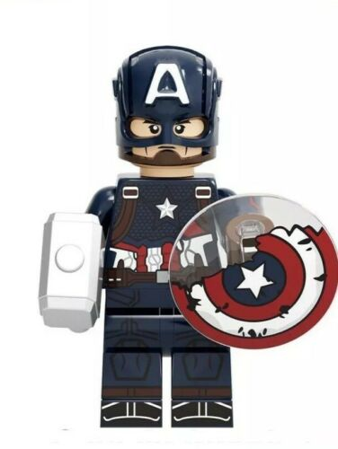 Captain America w// Damaged Shield-Avengers-Minifigure-US Seller-WE COMBINE SHIP
