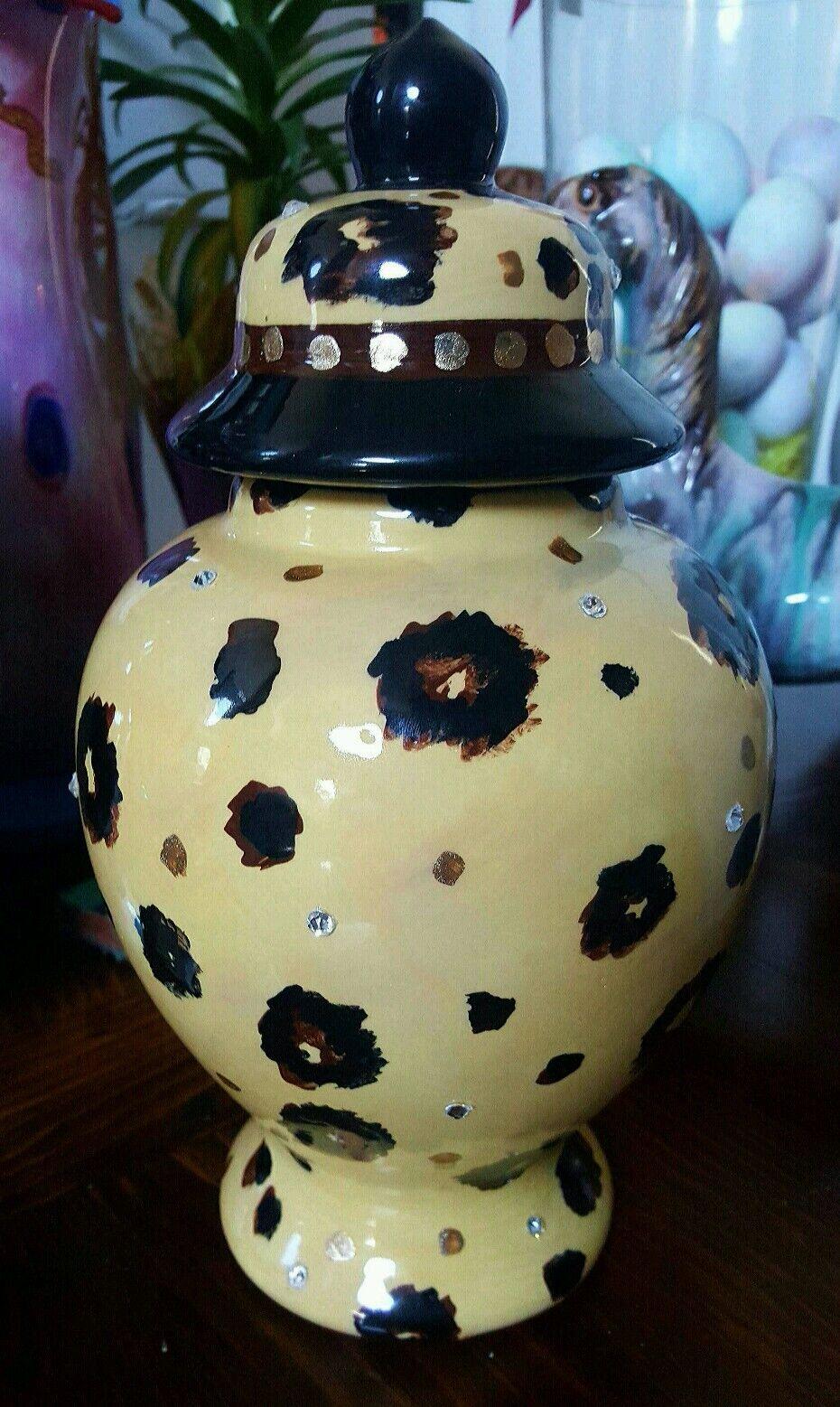 Personalizzato Animali Urna 4 il Tuo Cane Cremazione Qualsiasi Ceramica Leopardo