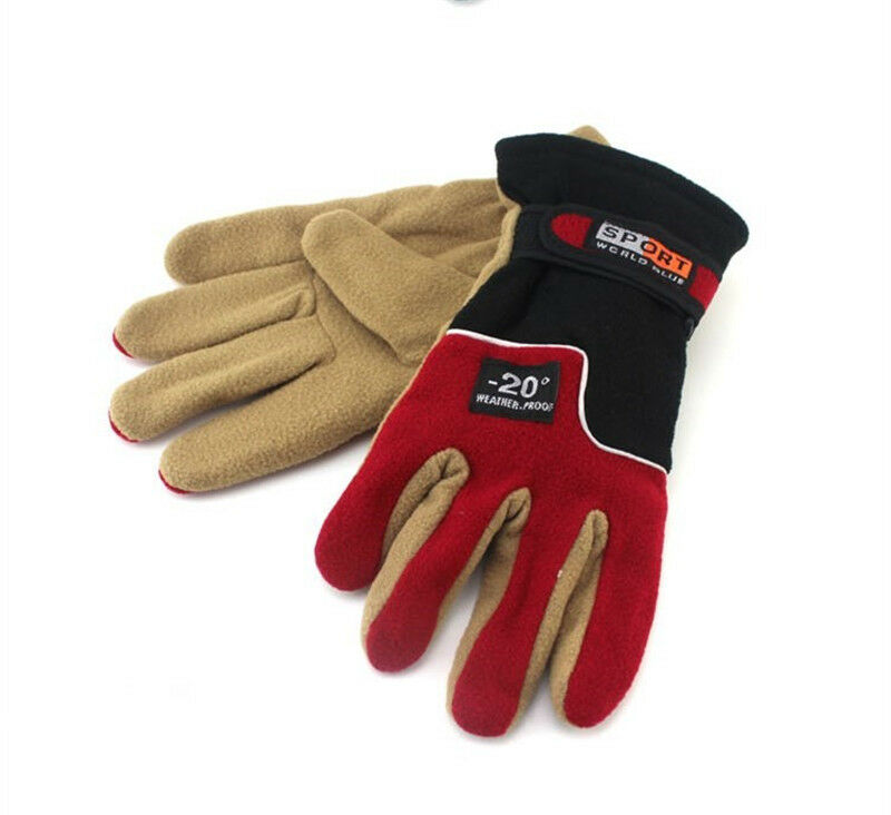 Winter Thermal Warm Fleece Lined Gloves for MTB Road Bike Cycling Bicycle Riding