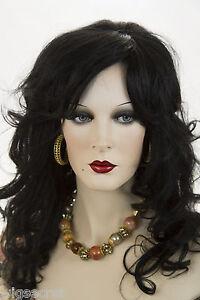 black brunette long human hair monofilament hand tied wavy
