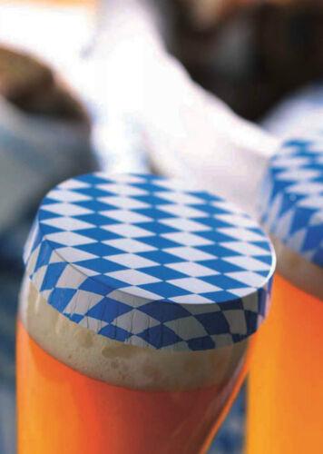 100 x Paper Cap Getraenkeabdeckung Bier Abdeckung DrinkSafe Oktoberfest 37738