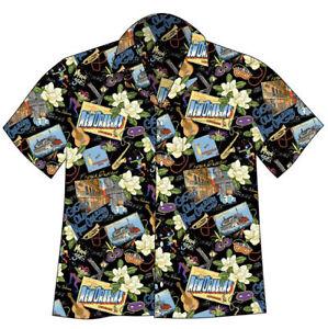 NEW-ORLEANS-MARDI-GRAS-Hawaiian-Camp-Shirt-David-Carey-Originals-BRAND-NEW