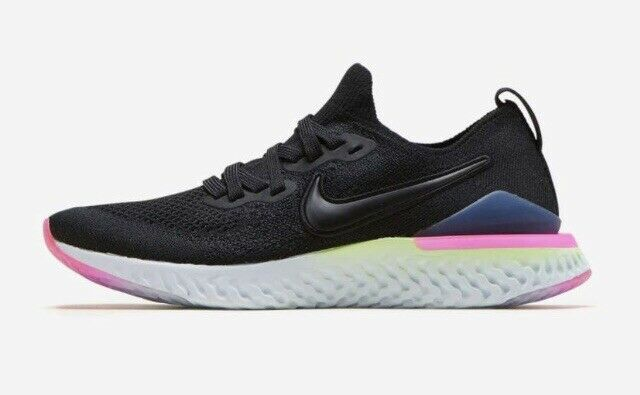 Kid's Nike Epic React Flyknit 2 (GS) Running Shoes Size US 6 Y Black AQ3243-003