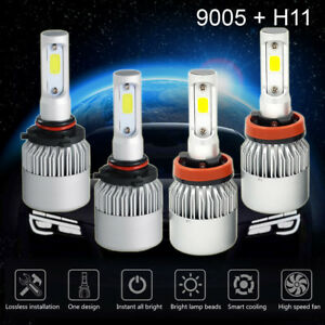 Details about 9005 + H11 3020W 453000LM Combo CREE LED Headlight Kit High  Low Beam Bulbs 6000K