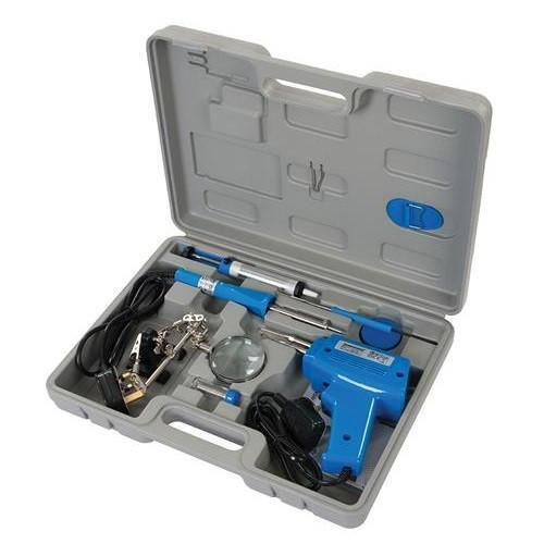 Electrical Soldering Kit Set 30W Iron /& 100W Gun Solder Stand Tool With Case