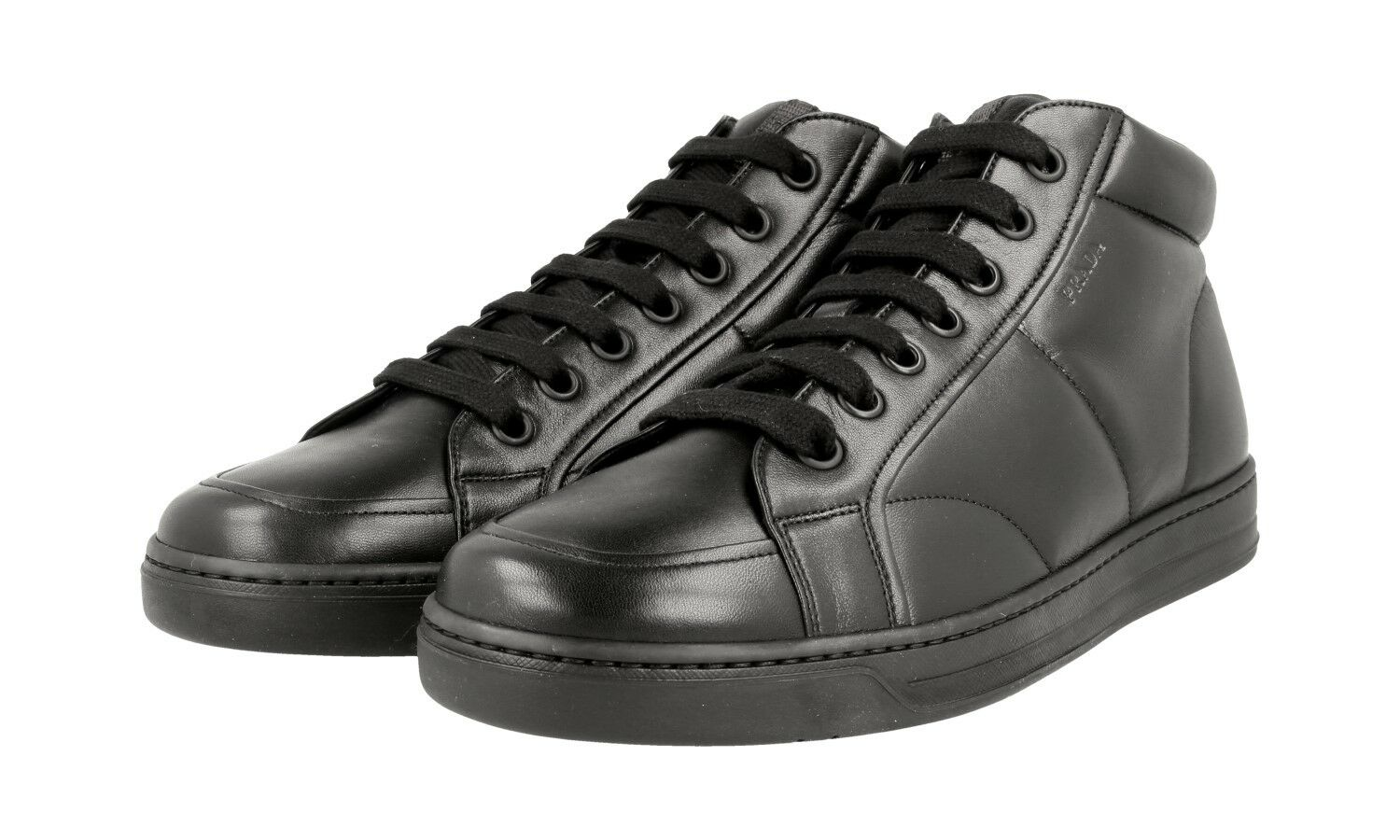 LUXUS PRADA HIGH-TOP SNEAKER SCHUHE 4T2914 black N