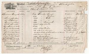1873-SHIP-SARANAK-Philadelphia-Pennsylvania-CARGO-MANIFEST-Document-NEW-ORLEANS