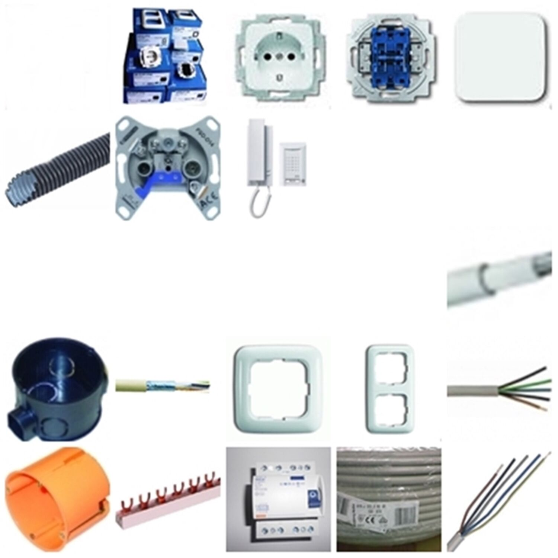 Zählerschrank+Elektromaterial für 1-FamilienhausDas komplette Elektroinstallati