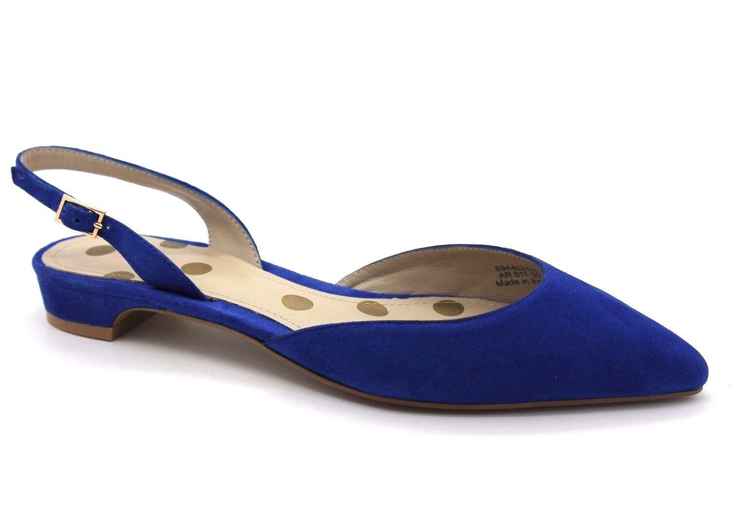 Boden Cecelia Damenschuhe UK Suede 6 EU 39 Blau Suede UK Leder Pointed Slingback New Sandales 8fb054
