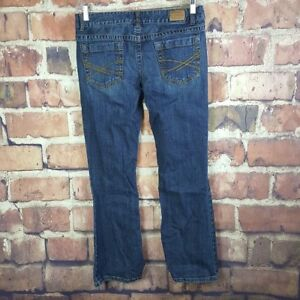 Aeropostale-Hailey-Skinny-Flare-Jeans-Womens-Size-11-12-Short-Distressed
