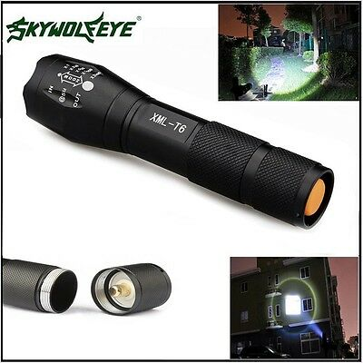 5000LM 5-Mode CREE XML T6 LED Torch Powerful 18650 Compact Flashlight Torch Lamp