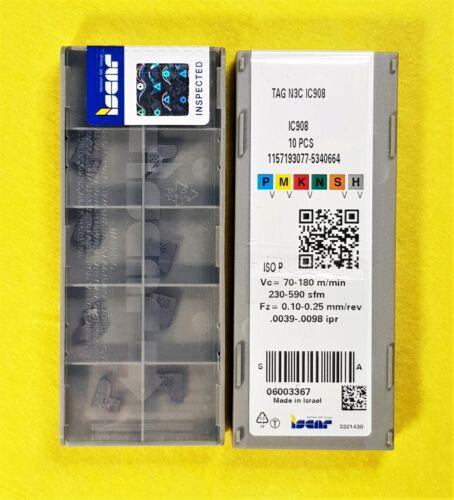 Iscar TAG N3C IC908; 10 inserts//box