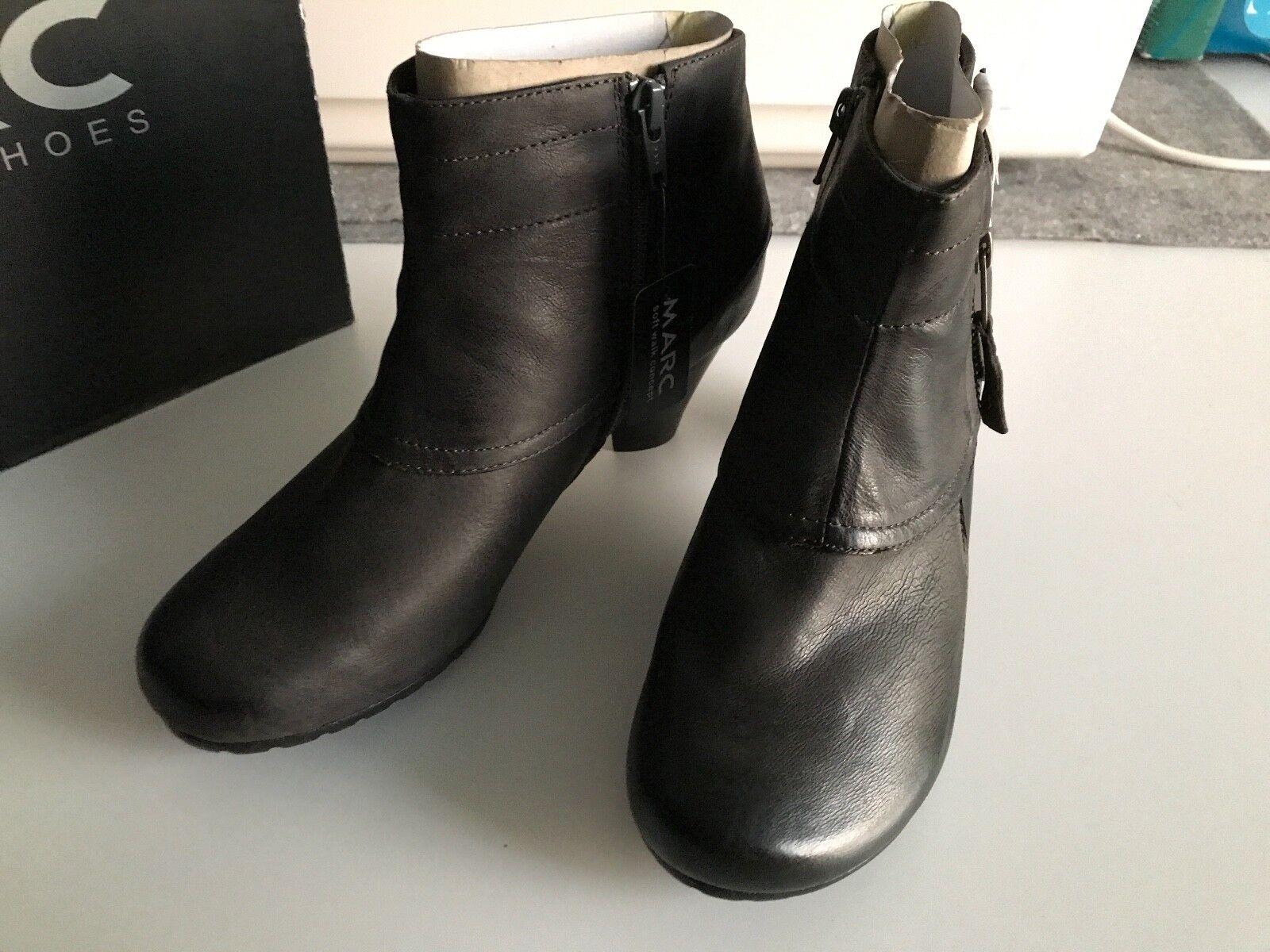 MARC – NEU – – – Leder Stiefelette, Stiefel, Stiefel Gr. 38, Schwarz NP    Flagship-Store  084121