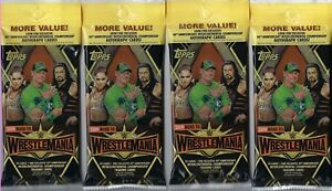 4-2019-Topps-WWE-Road-To-Wrestlemania-Wrestling-Cards-Retail-21c-FAT-PACK-LOT