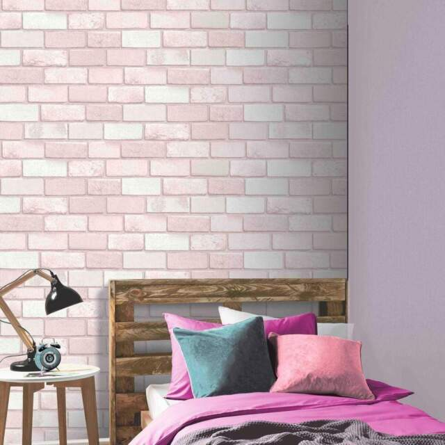 STRASS Ziegel Tapete rosa - Arthouse 260005 Glitzer